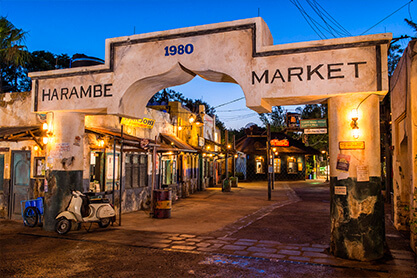 Photo of the Harambe Market entrance.