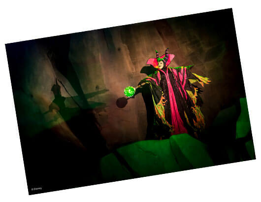 Photo of Maleficent from the Fantasmic! nighttime show.