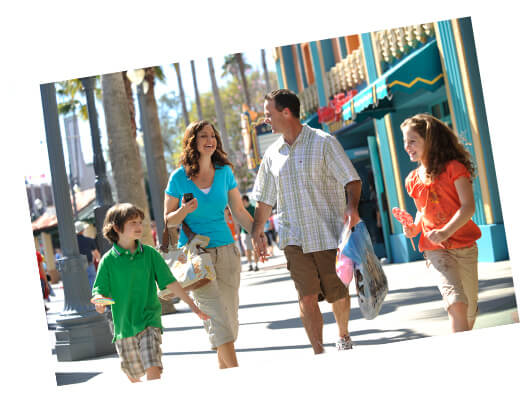 A family enjoying a walk through Disney's Hollywood Studios.