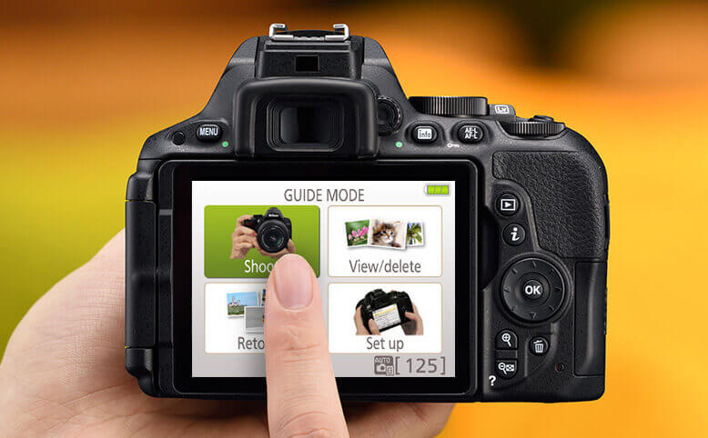 Photo showing the simple controls on a NIkon DSLR