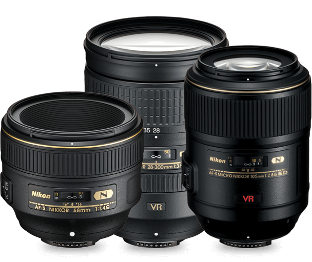 Product grouping of NIKKOR lenses