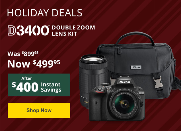 Holiday Savings on the D3400!