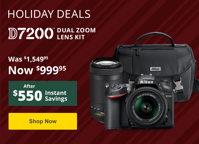 Holiday Savings on the D7200!