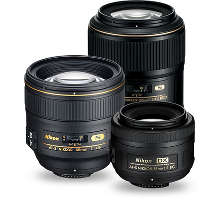 Product grouping of NIKKOR Prime Lenses