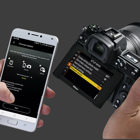 Transferring photos from camera to smartphone