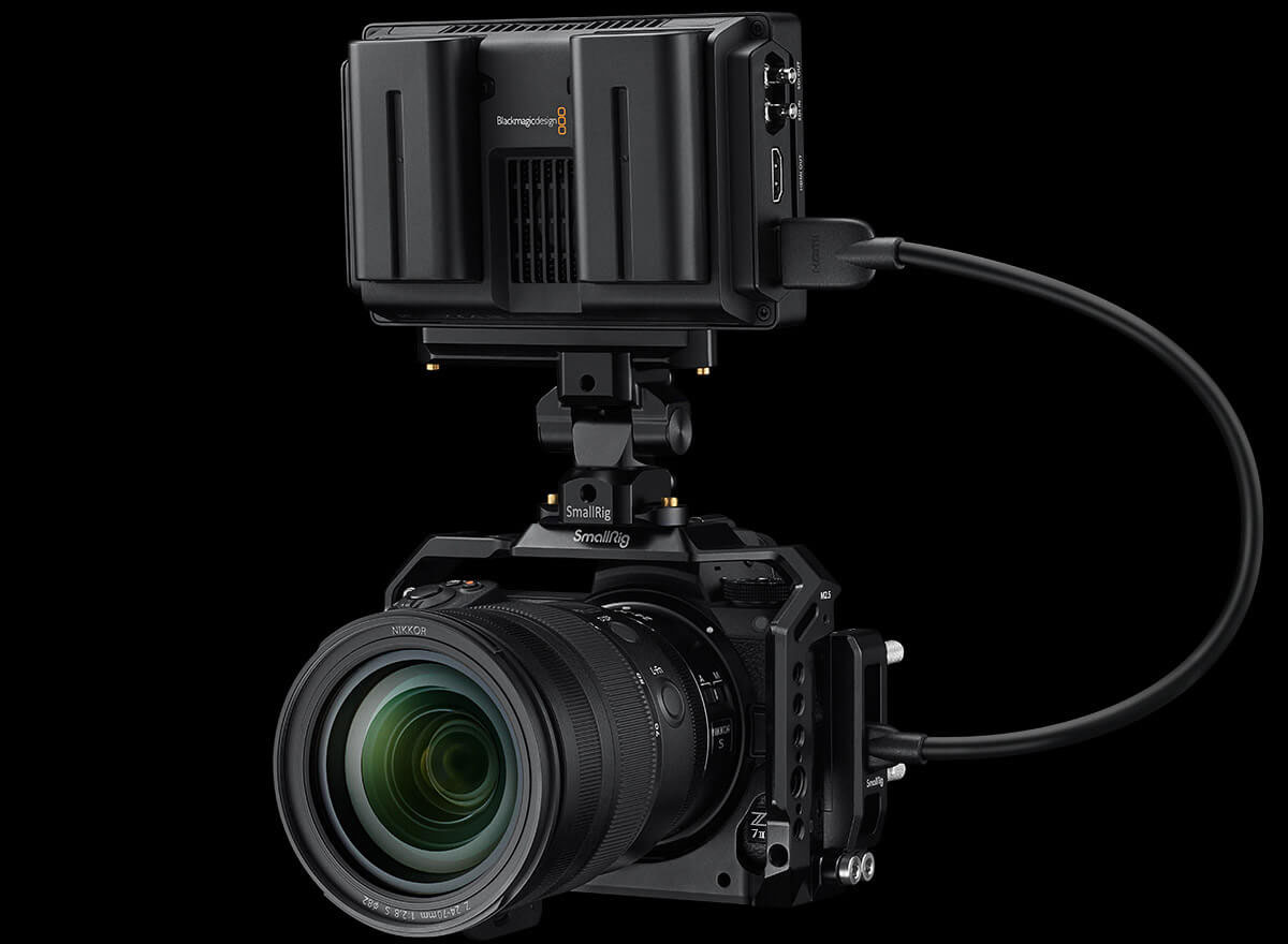 Camera with external recorder