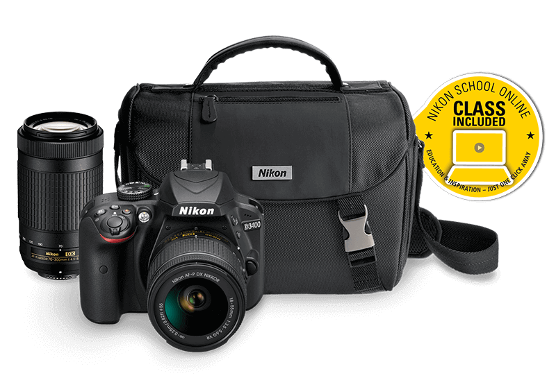 Product photo of Nikon D3400 Two Lens Kit