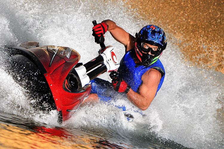 Photograph of a watercraft rider