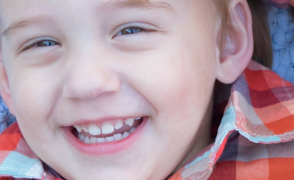 Portrait sample photo of a boy smiling