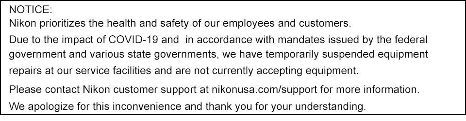 Servicio y Reparación Nikon