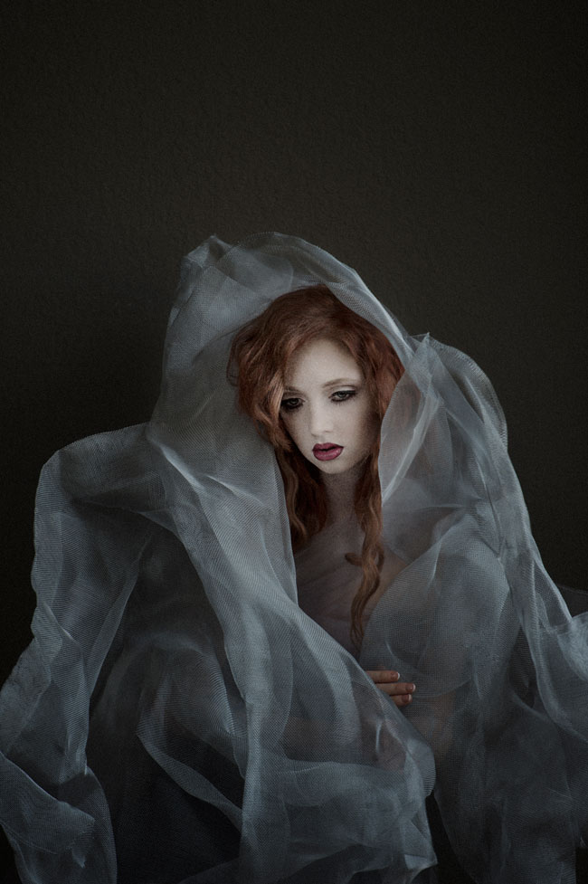 Nikon Ambassador Bambi Cantrell Photo Of A Redheaded Woman With A Veil Wrapped Around Her