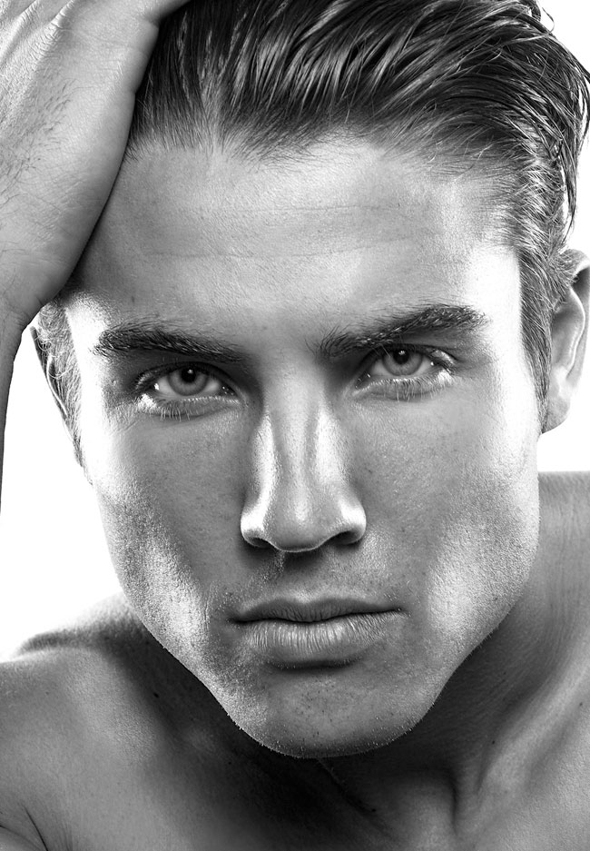 Dixie dixon black and white photo of a male model headshot