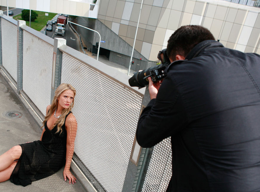 Wedding Photographer Jerry Ghionis Photographing A Female Model Outdoors