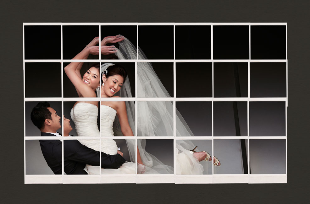 Jerry Ghionis Wedding Photograph Of A Bride And Groom Arranged In Grid Pattern So