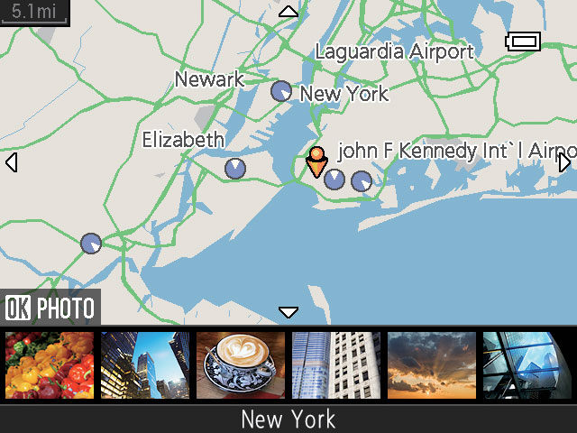 Built-in World Maps | COOLPIX Map and Electronic Compass