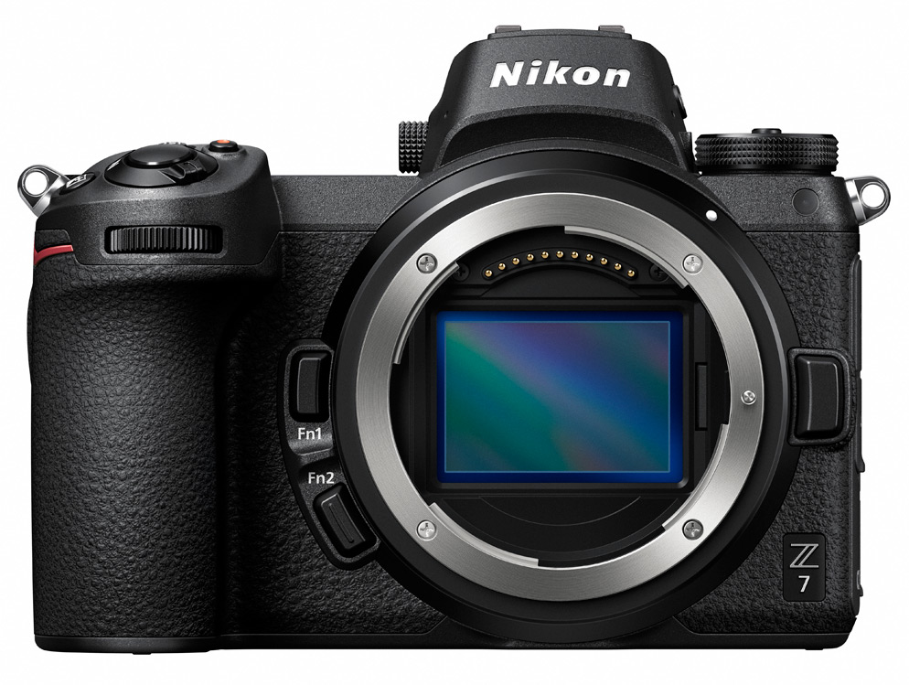 product photo of the Z7 mirrorless camera without a lens, showing the sensor and mount