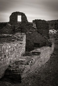 B&W Photo of Chaco at night by Lance Keimig