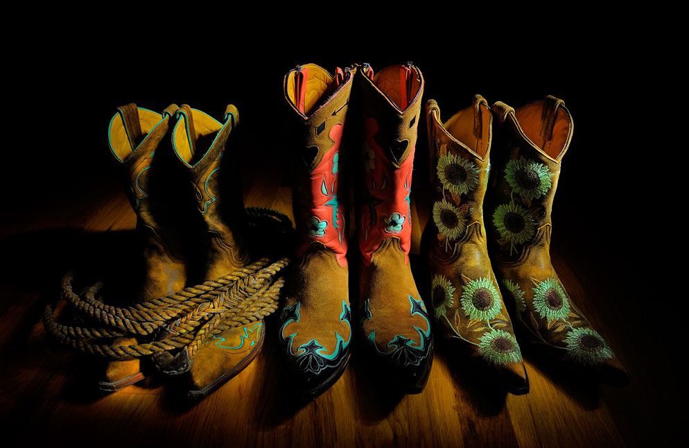 INova Bolt Flashlight Was Used To Light Paint This Collection Of Cowboy  Boots By Dave Black