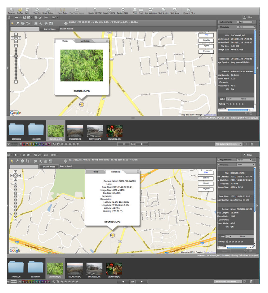 Geotagging do more with your images and videos digital view nx2 screen showing gps data on map baditri Gallery