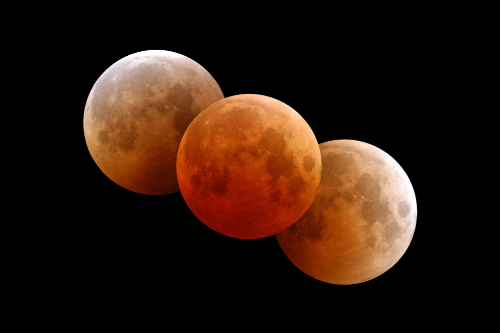 brand new 9c148 182af Fred Espenak triple play lunar eclipse composite