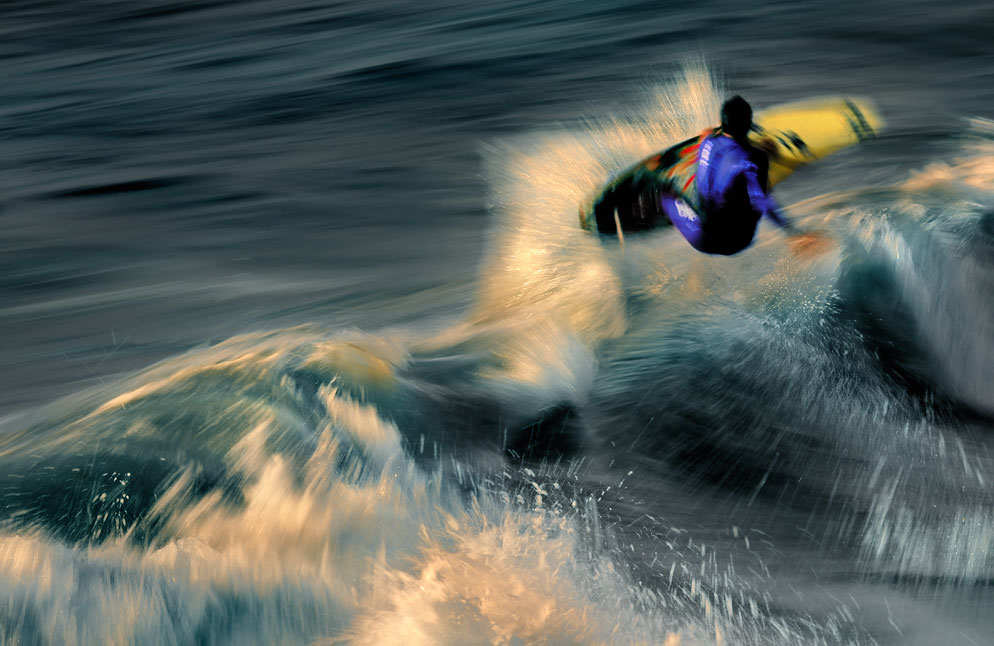 Dave Black Photo Showing Panning Of A Surfer As He Rides A Wave