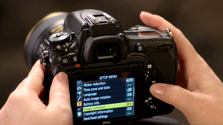 Using the Image Comment Feature of Select Nikon DSLR Cameras