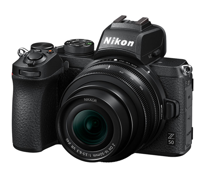 product photo of Z 50 mirrorless camera.