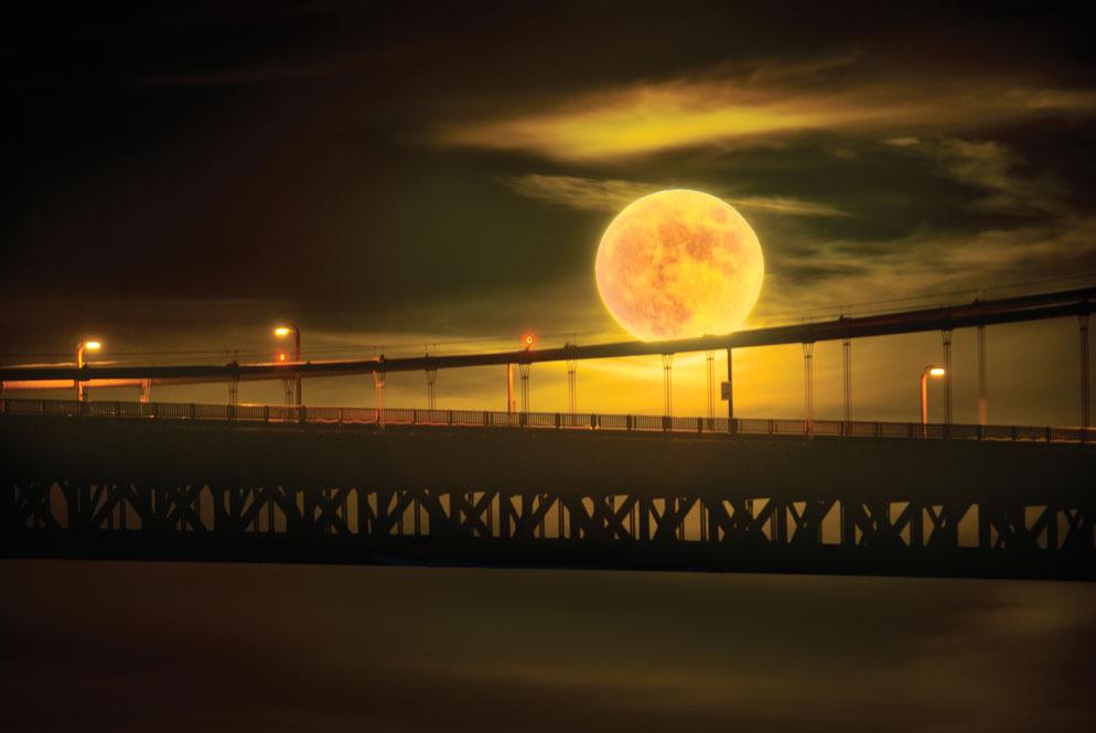 the fiery moon | blue, blue sky | Pinterest